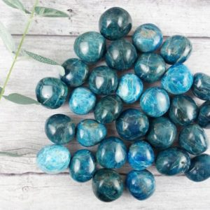 Shop Apatite Shapes! Apatite Crystal Palm Stones, Blue Apatite Worry Stone, Reiki Infused Crystal Pebble | Natural genuine stones & crystals in various shapes & sizes. Buy raw cut, tumbled, or polished gemstones for making jewelry or crystal healing energy vibration raising reiki stones. #crystals #gemstones #crystalhealing #crystalsandgemstones #energyhealing #affiliate #ad