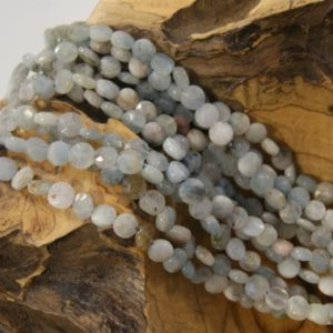 Shop Aquamarine Faceted Beads! Aquamarine Beads Natural Faceted Coin-7x3mm -15.5 inch strand- | Natural genuine faceted Aquamarine beads for beading and jewelry making.  #jewelry #beads #beadedjewelry #diyjewelry #jewelrymaking #beadstore #beading #affiliate #ad