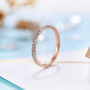 Shop Aquamarine Jewelry! Aquamarine Wedding Band Rose Gold Band Ring | Unique eternity Band stacking Band matching Band Ring Bridal ring | anniversary Band Ring | Natural genuine Aquamarine jewelry. Buy handcrafted artisan wedding jewelry.  Unique handmade bridal jewelry gift ideas. #jewelry #beadedjewelry #gift #crystaljewelry #shopping #handmadejewelry #wedding #bridal #jewelry #affiliate #ad