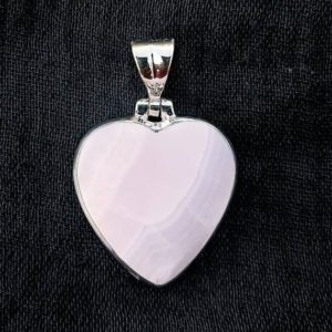 Shop Aragonite Jewelry! Natural Pink Aragonite Heart Pendant, 925 Sterling Silver, Heart Pendant, Pink Stone, Gift for Her, Valentine's Gift. Free Shipping. | Natural genuine Aragonite jewelry. Buy crystal jewelry, handmade handcrafted artisan jewelry for women.  Unique handmade gift ideas. #jewelry #beadedjewelry #beadedjewelry #gift #shopping #handmadejewelry #fashion #style #product #jewelry #affiliate #ad