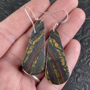 Shop Tiger Iron Earrings! Australian Tiger Eye Stone Jewelry Earrings | Natural genuine Tiger Iron earrings. Buy crystal jewelry, handmade handcrafted artisan jewelry for women.  Unique handmade gift ideas. #jewelry #beadedearrings #beadedjewelry #gift #shopping #handmadejewelry #fashion #style #product #earrings #affiliate #ad
