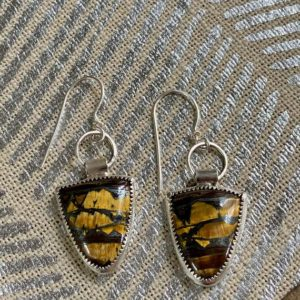 Shop Tiger Iron Earrings! Australian Tiger Iron Earrings | Natural genuine Tiger Iron earrings. Buy crystal jewelry, handmade handcrafted artisan jewelry for women.  Unique handmade gift ideas. #jewelry #beadedearrings #beadedjewelry #gift #shopping #handmadejewelry #fashion #style #product #earrings #affiliate #ad