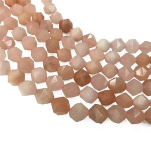 Shop Aventurine Faceted Beads! Faceted Pink Aventurine Beads, Star Cut Beads, Gemstone Beads, 8mm, 10mm | Natural genuine faceted Aventurine beads for beading and jewelry making.  #jewelry #beads #beadedjewelry #diyjewelry #jewelrymaking #beadstore #beading #affiliate #ad
