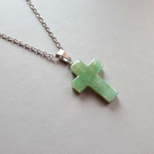 Shop Aventurine Necklaces! Aventurine cross, catholic man gift, catholic gift,jesus cross, catholic necklace, jewelry religious, religious gift women, cross necklace | Natural genuine Aventurine necklaces. Buy crystal jewelry, handmade handcrafted artisan jewelry for women.  Unique handmade gift ideas. #jewelry #beadednecklaces #beadedjewelry #gift #shopping #handmadejewelry #fashion #style #product #necklaces #affiliate #ad
