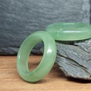 Aventurine stone ring | Green Aventurine ring | Natural stone ring | Taurus birthstone ring | Green stone ring | Green wedding band | Natural genuine Array jewelry. Buy handcrafted artisan wedding jewelry.  Unique handmade bridal jewelry gift ideas. #jewelry #beadedjewelry #gift #crystaljewelry #shopping #handmadejewelry #wedding #bridal #jewelry #affiliate #ad