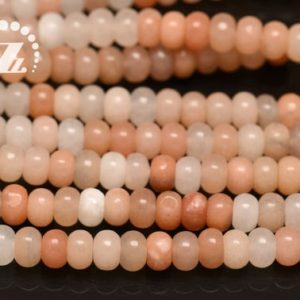 """Shop Aventurine Rondelle Beads! Pink Aventurine smooth rondelle spacer beads,roundel bead,abacus bead,Aventurine,Natural,Gemstone beads,4x6mm 5x8mm 6x10mm,15"""" full strand 