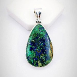Shop Azurite Pendants! Azurite Malachite Pendant, 925 Sterling Silver Pendant, Healing Stone Pendant, Valentine's Gift, Gift for her, Men Pendant. Free Shipping. | Natural genuine Azurite pendants. Buy crystal jewelry, handmade handcrafted artisan jewelry for women.  Unique handmade gift ideas. #jewelry #beadedpendants #beadedjewelry #gift #shopping #handmadejewelry #fashion #style #product #pendants #affiliate #ad