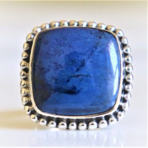 Shop Azurite Rings! Azurite Ring, 925 Sterling Silver Ring, Natural Azurite, Azurite malachite Ring, Natural Gemstone, Dumortierite Stone Ring, Christmas gift, | Natural genuine Azurite rings, simple unique handcrafted gemstone rings. #rings #jewelry #shopping #gift #handmade #fashion #style #affiliate #ad