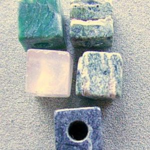 Shop Beads With Large Holes! Beads Square Large Hole Green Pink Grey Gemstone, Rock Stone | Shop jewelry making and beading supplies, tools & findings for DIY jewelry making and crafts. #jewelrymaking #diyjewelry #jewelrycrafts #jewelrysupplies #beading #affiliate #ad