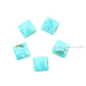 Beautiful Arizona Turquoise Square 8mm-16mm Calibrated Cabochons Gemstone | Sleeping Beauty Turquoise Calibrated Cabochons beads 5 pcs set, | Natural genuine beads Array beads for beading and jewelry making.  #jewelry #beads #beadedjewelry #diyjewelry #jewelrymaking #beadstore #beading #affiliate #ad