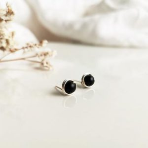 Shop Shungite Earrings! Black round earrings, Shungite earrings, Men earrings, Black silver earrings, Black stud earrings, Screw earrings, Round shungite studs   Natural genuine Shungite earrings. Buy crystal jewelry, handmade handcrafted artisan jewelry for women.  Unique handmade gift ideas. #jewelry #beadedearrings #beadedjewelry #gift #shopping #handmadejewelry #fashion #style #product #earrings #affiliate #ad