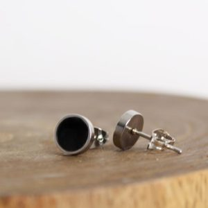 Shop Black Tourmaline Earrings! Black Stud Earrings  – Black Tourmaline Earrings  – Chakra Earrings | Natural genuine Black Tourmaline earrings. Buy crystal jewelry, handmade handcrafted artisan jewelry for women.  Unique handmade gift ideas. #jewelry #beadedearrings #beadedjewelry #gift #shopping #handmadejewelry #fashion #style #product #earrings #affiliate #ad