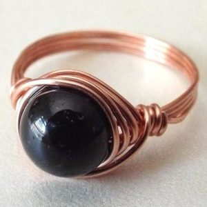 Shop Black Tourmaline Rings! Black Tourmaline Ring | Natural genuine Black Tourmaline rings, simple unique handcrafted gemstone rings. #rings #jewelry #shopping #gift #handmade #fashion #style #affiliate #ad