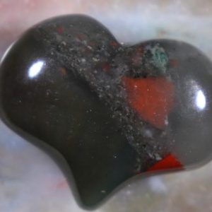 Shop Bloodstone Shapes! Bloodstone, Puffy Heart, Pocket Worry Healing Stone, with Positive Healing Energy! | Natural genuine stones & crystals in various shapes & sizes. Buy raw cut, tumbled, or polished gemstones for making jewelry or crystal healing energy vibration raising reiki stones. #crystals #gemstones #crystalhealing #crystalsandgemstones #energyhealing #affiliate #ad