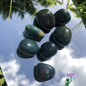 Shop Tumbled Bloodstone Crystals & Pocket Stones! Bloodstone tumbled Crystals | Natural genuine stones & crystals in various shapes & sizes. Buy raw cut, tumbled, or polished gemstones for making jewelry or crystal healing energy vibration raising reiki stones. #crystals #gemstones #crystalhealing #crystalsandgemstones #energyhealing #affiliate #ad