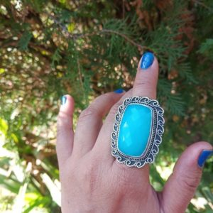Shop Blue Chalcedony Rings! Aqua Chalcedony Ring, chalcedony Ring, 925 Sterling Silver, boho Chalcedony Ring, blue Chalcedony Ring, aqua Chalcedony Jewelry Christmas | Natural genuine Blue Chalcedony rings, simple unique handcrafted gemstone rings. #rings #jewelry #shopping #gift #handmade #fashion #style #affiliate #ad