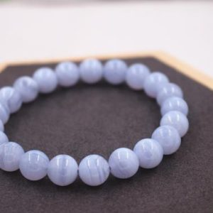 Shop Blue Lace Agate Bracelets! Natural Blue Lace Agate Beads Bracelet,Size 6-16mm beads bracelet,Wholesale Beaded Bracelets Supply,Gift jewelry bracelets. | Natural genuine Blue Lace Agate bracelets. Buy crystal jewelry, handmade handcrafted artisan jewelry for women.  Unique handmade gift ideas. #jewelry #beadedbracelets #beadedjewelry #gift #shopping #handmadejewelry #fashion #style #product #bracelets #affiliate #ad
