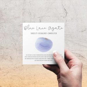 Shop Printable Crystal Cards, Pages, & Posters! Blue Lace Agate Gemstone Meaning Card | Printable Crystal Card for Gift Set | Shop jewelry making and beading supplies, tools & findings for DIY jewelry making and crafts. #jewelrymaking #diyjewelry #jewelrycrafts #jewelrysupplies #beading #affiliate #ad