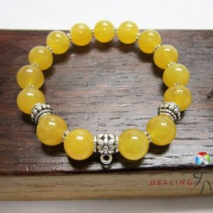 Shop Calcite Bracelets! Golden Yellow Calcite Bracelet Yellow Gemstone Bracelet Yellow Golden Calcite Solar Plexus Chakra Bracelet Golden Calcite Study Bracelet | Natural genuine Calcite bracelets. Buy crystal jewelry, handmade handcrafted artisan jewelry for women.  Unique handmade gift ideas. #jewelry #beadedbracelets #beadedjewelry #gift #shopping #handmadejewelry #fashion #style #product #bracelets #affiliate #ad