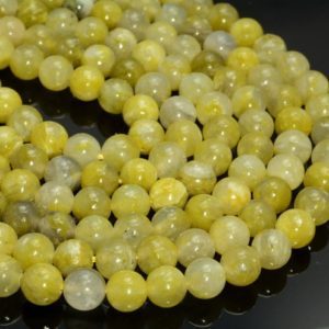 Natural Green Yellow Calcite Gemstone Grade Aa Smooth 6mm 8mm 10mm 12mm Round Loose Beads 15 Inch Full Strand (a245) | Natural genuine beads Array beads for beading and jewelry making.  #jewelry #beads #beadedjewelry #diyjewelry #jewelrymaking #beadstore #beading #affiliate #ad