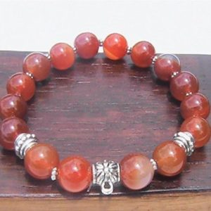 Shop Chakra Bracelets! Carnelian Bracelet, Sacral Chakra Bracelet, Energy Bracelet, Power Health Bracelet Meditation Yoga Bracelet Carnelian Charm Chakra Bracelet, | Shop jewelry making and beading supplies, tools & findings for DIY jewelry making and crafts. #jewelrymaking #diyjewelry #jewelrycrafts #jewelrysupplies #beading #affiliate #ad