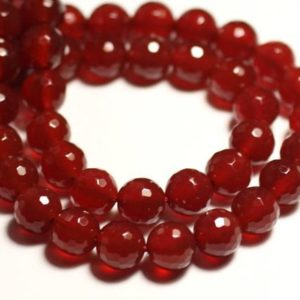 Shop Carnelian Faceted Beads! 10pc – Stone Beads – Carnelian Faceted Balls 8mm – 8741140015562 | Natural genuine faceted Carnelian beads for beading and jewelry making.  #jewelry #beads #beadedjewelry #diyjewelry #jewelrymaking #beadstore #beading #affiliate #ad