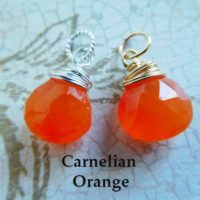 Chalcedony Charm Pendant Drop Dangle / 18-20 Mm, Carnelian Orange / Bridesmaid Friend Mom Sister Gift For Her Under 10 / Gd Gemdone Fdv1.v1 | Natural genuine Gemstone jewelry. Buy crystal jewelry, handmade handcrafted artisan jewelry for women.  Unique handmade gift ideas. #jewelry #beadedjewelry #beadedjewelry #gift #shopping #handmadejewelry #fashion #style #product #jewelry #affiliate #ad
