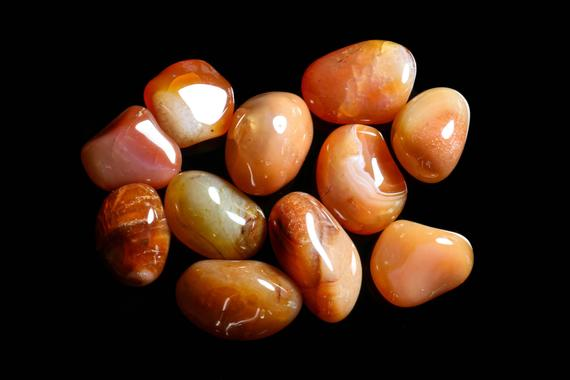 Very Light Banded Carnelian Tumbled