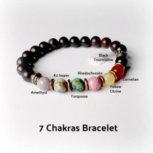 Shop Chakra Bracelets! Chakra beaded bracelet stretch layering bracelet reiki charged Chakra Healing gemstones chakra diffuser beads mindfulness gift yoga bracelet | Shop jewelry making and beading supplies, tools & findings for DIY jewelry making and crafts. #jewelrymaking #diyjewelry #jewelrycrafts #jewelrysupplies #beading #affiliate #ad