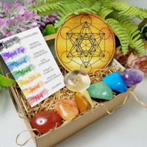 Shop Crystal Healing! Chakra Stone Set, Witch Kit, Healing Crystals, Crystal Kit, Meditation Altar, Worry Stone, Crystal Grid, 7 Chakra Bracelet, Altar Box, Reiki | Shop jewelry making and beading supplies, tools & findings for DIY jewelry making and crafts. #jewelrymaking #diyjewelry #jewelrycrafts #jewelrysupplies #beading #affiliate #ad