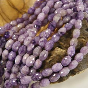 Shop Charoite Beads! Charoite Faceted Barrel Shaped Natural Gemstone Bead-assorted Sizes~ -15.5 Inch Strand- | Natural genuine beads Charoite beads for beading and jewelry making.  #jewelry #beads #beadedjewelry #diyjewelry #jewelrymaking #beadstore #beading #affiliate #ad