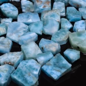 Shop Larimar Stones & Crystals! Natural Blue Larimar Raw Gemstone Lot, Natural Larimar Loose Chips For Jewelry Making Supplies, Wholesale Larimar Rough 15 To 25 mm | Natural genuine stones & crystals in various shapes & sizes. Buy raw cut, tumbled, or polished gemstones for making jewelry or crystal healing energy vibration raising reiki stones. #crystals #gemstones #crystalhealing #crystalsandgemstones #energyhealing #affiliate #ad