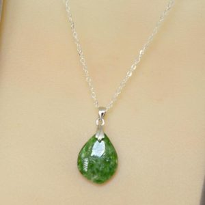 Shop Diopside Pendants! Chrome Diopside Pendant Necklace, Heart Chakra Necklace, Green Gemstone Necklace, Sterling Silver Green Stone Necklace | Natural genuine Diopside pendants. Buy crystal jewelry, handmade handcrafted artisan jewelry for women.  Unique handmade gift ideas. #jewelry #beadedpendants #beadedjewelry #gift #shopping #handmadejewelry #fashion #style #product #pendants #affiliate #ad