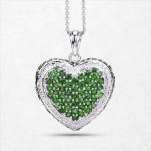 Shop Diopside Pendants! Chrome Diopside Pendant, Sterling Silver Natural Chrome Diopside Pendant Necklace for Women, Green Gemstone Jewelry, Bridesmaid Gift | Natural genuine Diopside pendants. Buy crystal jewelry, handmade handcrafted artisan jewelry for women.  Unique handmade gift ideas. #jewelry #beadedpendants #beadedjewelry #gift #shopping #handmadejewelry #fashion #style #product #pendants #affiliate #ad