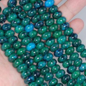 FREE USA Ship 10×6-10x7mm Turquoise Chrysocolla Gemstone Donut Rondelle Loose Beads 16 inch Full Strand (90114169-206) | Natural genuine beads Gemstone beads for beading and jewelry making.  #jewelry #beads #beadedjewelry #diyjewelry #jewelrymaking #beadstore #beading #affiliate #ad