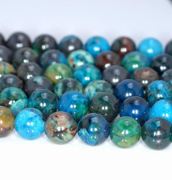 6mm Multicolor Chrysocolla Gemstone Grade A Round Loose Beads 15 Inch Full Strand (80004699-726)