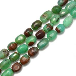 Shop Chrysoprase Chip & Nugget Beads! Chrysoprase Faceted Nugget Beads Size Approx 10x15mm 13x18mm 15.5''Strand | Natural genuine chip Chrysoprase beads for beading and jewelry making.  #jewelry #beads #beadedjewelry #diyjewelry #jewelrymaking #beadstore #beading #affiliate #ad