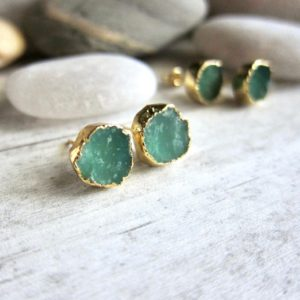 Shop Chrysoprase Jewelry! Australian Jade Earrings, Chrysoprase Earrings, Green Stone Earrings,Healing Stone Earrings,Chrysoprase Jewelry,Chrysoprase Studs,Jade Studs | Natural genuine Chrysoprase jewelry. Buy crystal jewelry, handmade handcrafted artisan jewelry for women.  Unique handmade gift ideas. #jewelry #beadedjewelry #beadedjewelry #gift #shopping #handmadejewelry #fashion #style #product #jewelry #affiliate #ad