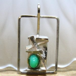 Shop Chrysoprase Pendants! Natural Green Chrysoprase Gem Large Unisex Mens Pendant Sterling Silver , Healing Gem , Rectangular Design, Big Medallion, | Natural genuine Chrysoprase pendants. Buy handcrafted artisan men's jewelry, gifts for men.  Unique handmade mens fashion accessories. #jewelry #beadedpendants #beadedjewelry #shopping #gift #handmadejewelry #pendants #affiliate #ad