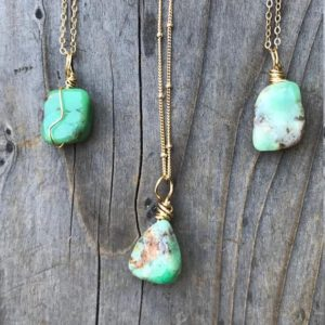 Shop Chrysoprase Pendants! Chrysoprase /Chrysoprase Necklace / Chrysoprase Pendant / Dainty Chrysoprase / Chakra Jewelry / Chrysoprase Jewelry / Gold Filled | Natural genuine Chrysoprase pendants. Buy crystal jewelry, handmade handcrafted artisan jewelry for women.  Unique handmade gift ideas. #jewelry #beadedpendants #beadedjewelry #gift #shopping #handmadejewelry #fashion #style #product #pendants #affiliate #ad
