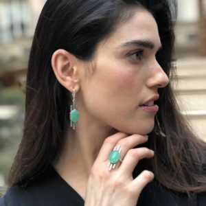Shop Chrysoprase Rings! Green Boho Ring, Natural Chrysoprase Ring, Artistic Ring, Green Vintage Ring, Inspirational Ring, Artisan Ring, May Ring, Solid Silver Ring | Natural genuine Chrysoprase rings, simple unique handcrafted gemstone rings. #rings #jewelry #shopping #gift #handmade #fashion #style #affiliate #ad