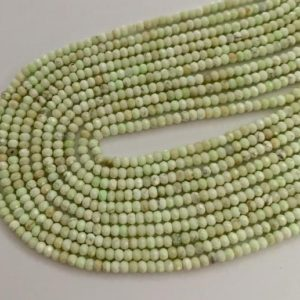 Shop Chrysoprase Rondelle Beads! Tiny yellow chrysoprase rondelles | Natural genuine rondelle Chrysoprase beads for beading and jewelry making.  #jewelry #beads #beadedjewelry #diyjewelry #jewelrymaking #beadstore #beading #affiliate #ad
