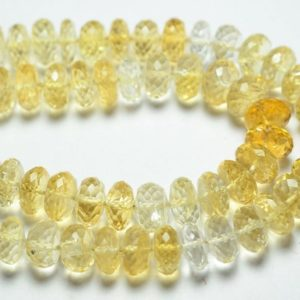 Shop Citrine Faceted Beads! 8 Inches Strand Natural Citrine Rondelle Beads 9mm to 10mm Faceted Rondelles Gemstone Beads AAA Citrine Beads No4120 | Natural genuine faceted Citrine beads for beading and jewelry making.  #jewelry #beads #beadedjewelry #diyjewelry #jewelrymaking #beadstore #beading #affiliate #ad