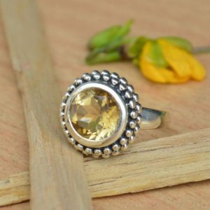 Shop Citrine Engagement Rings! Beautiful  Natural Citrine Ring,Solid 925 Sterling Silver Designer Ring,Citrine Ring,Yellow Gemstone Ring,Handmade Jewelry Perfect Gift | Natural genuine Citrine rings, simple unique handcrafted gemstone rings. #rings #jewelry #shopping #gift #handmade #fashion #style #affiliate #ad