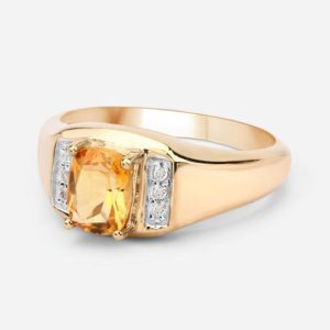 Citrine Ring, Natural Citrine Cushion Cut Engagement Ring, Gold Plated Promise Ring, Sterling Silver, November Birthstone, Orange Gemstone | Natural genuine Gemstone rings, simple unique alternative gemstone engagement rings. #rings #jewelry #bridal #wedding #jewelryaccessories #engagementrings #weddingideas #affiliate #ad