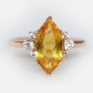citrine ring, november birthstone ring, marquise ring, engagement ring, gemstone ring, 14k marquise ring, birthstone ring, one of a kind | Natural genuine Array rings, simple unique alternative gemstone engagement rings. #rings #jewelry #bridal #wedding #jewelryaccessories #engagementrings #weddingideas #affiliate #ad