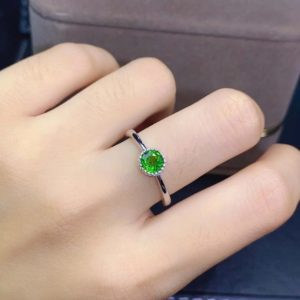 Shop Diopside Rings! Dainty Simple Diopside Ring, Natural Raw Diopside Ring Silver, Sterling Silver Band Ring, Green Gemstone Ring, Solitaire Ring, Women's Ring   Natural genuine Diopside rings, simple unique handcrafted gemstone rings. #rings #jewelry #shopping #gift #handmade #fashion #style #affiliate #ad