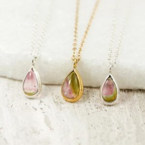 Shop Watermelon Tourmaline Pendants! Dainty Teardrop Watermelon Tourmaline Pendant, Everyday Healing Heart Chakra Pendant, Bi Color Tourmaline Pendant, Mother's Day Gift | Natural genuine Watermelon Tourmaline pendants. Buy crystal jewelry, handmade handcrafted artisan jewelry for women.  Unique handmade gift ideas. #jewelry #beadedpendants #beadedjewelry #gift #shopping #handmadejewelry #fashion #style #product #pendants #affiliate #ad