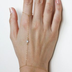 Delicate Gold Finger Bracelet, Diamond Finger Bracelet, Thin Gold Chain Bracelet, Gold Cz Diamond Bracelet, Simple Bracelet, 14k Gold Chain | Natural genuine Diamond bracelets. Buy crystal jewelry, handmade handcrafted artisan jewelry for women.  Unique handmade gift ideas. #jewelry #beadedbracelets #beadedjewelry #gift #shopping #handmadejewelry #fashion #style #product #bracelets #affiliate #ad