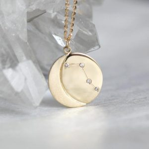 Shop Diamond Pendants! Constellation Necklace, 14k Diamond Zodiac necklace, Star sign pendant, Zodiac sign Jewelry | Natural genuine Diamond pendants. Buy crystal jewelry, handmade handcrafted artisan jewelry for women.  Unique handmade gift ideas. #jewelry #beadedpendants #beadedjewelry #gift #shopping #handmadejewelry #fashion #style #product #pendants #affiliate #ad